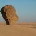 Erosion insolite du grés, Tête d'africaine à Tagr